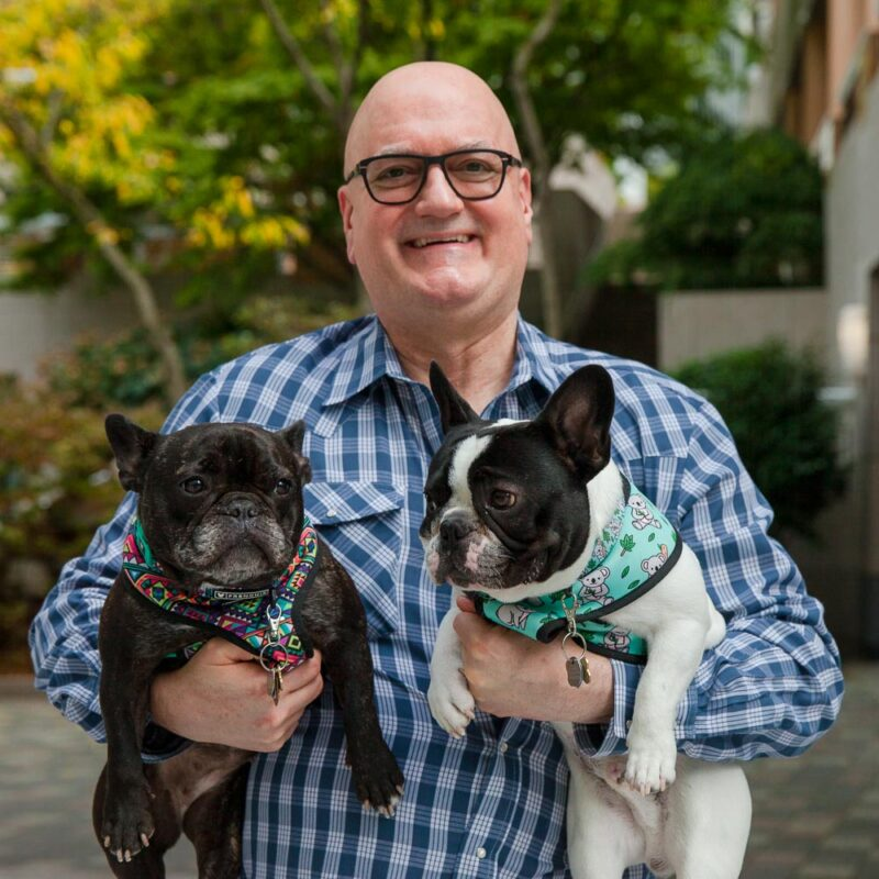 Branch Partners founding partner, John Branch with his dogs, Scout & Gus